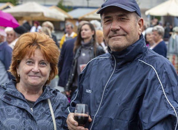 Bschaden János és felesége, Katalin évtizedek óta részt vesz a szüreti napokon