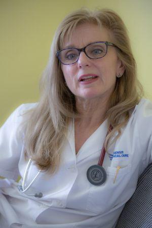 Dr. Pálvölgyi Nóra, a Soproni Gyógyközpont nefrológus főorvosa Fotó: Griechisch Tamás