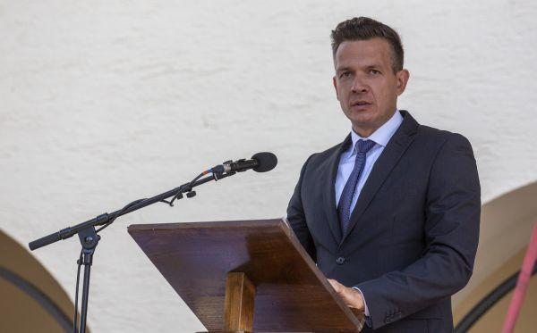 Az ünnepség szónoka dr. Farkas Ciprián városi tanácsnok volt Fotó: Pluzsik Tamás